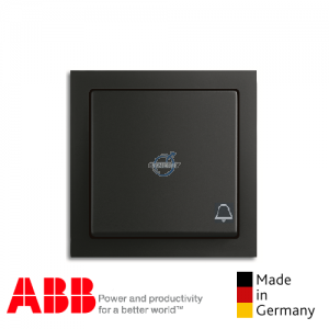 ABB future® linear Bell Press Switch Matt Black