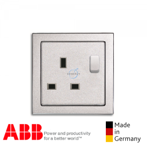 ABB future® linear 1 Gang Socket Outlet Aluminium Silver