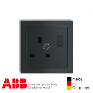 ABB future® linear 1 Gang Socket Outlet Matt Black
