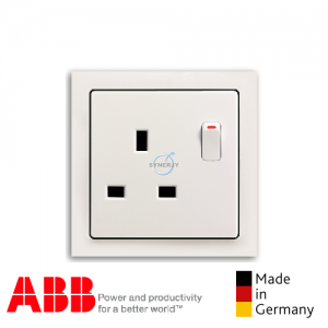 ABB future® linear 1 Gang Socket Outlet Matt White