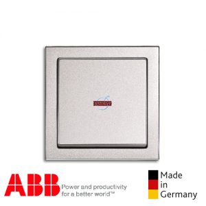 ABB future® linear Double Pole Switch Aluminium Silver