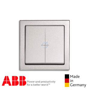 ABB future® linear 2 Gang Switch Aluminium Silver