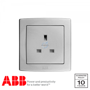 ABB Concept bs 1 Gang Socket Outlets Silver