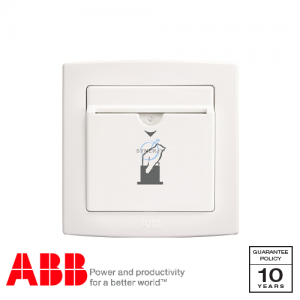 ABB Concept bs Key Card Switch White