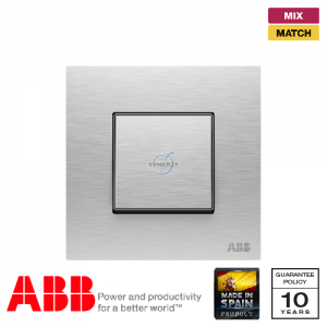 ABB Millenium 1 Gang Premium Switch - Stainless Steel