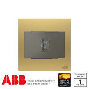 ABB Millenium Key Card Switch w/ LED (Time Delay 5-90 sec) - Matt Gold