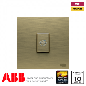 ABB Millenium 1 Gang Retractive Switch - Antique Gold
