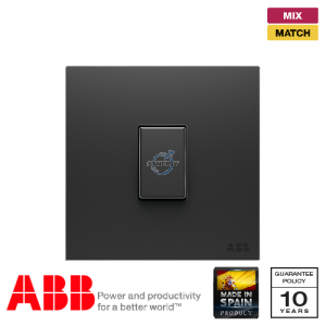 ABB Millenium 1 Gang Retractive Switch - Silk Black