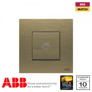 ABB Millenium 1 Gang Premium Retractive Switch - Antique Gold