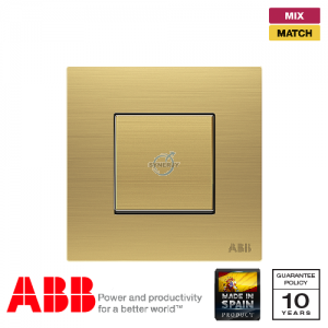 ABB Millenium 1 Gang Premium Retractive Switch - Matt Gold