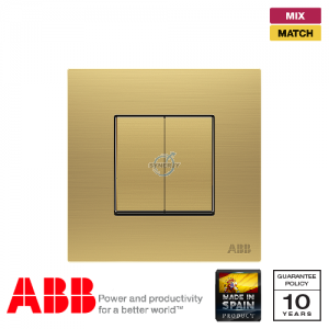 ABB Millenium 2 Gang Retractive Switch - Matt Gold