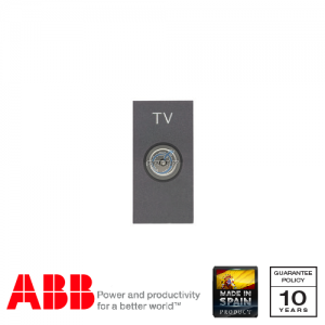 ABB Millenium 1 Gang TV Socket