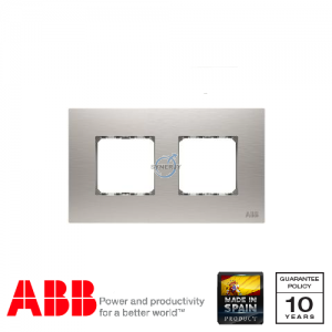 ABB Millenium 2 Gang Cover Frame Stainless Steel