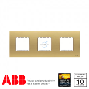 ABB Millenium 3 Gang Cover Frame Matt Gold