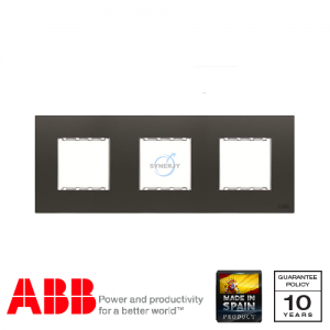 ABB Millenium 3 Gang Cover Frame Silk Black