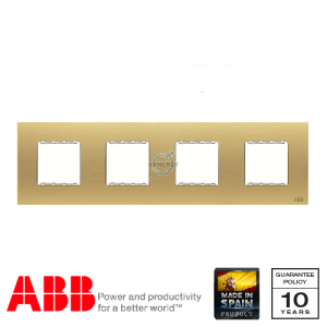 ABB Millenium 4 Gang Cover Frame Matt Gold