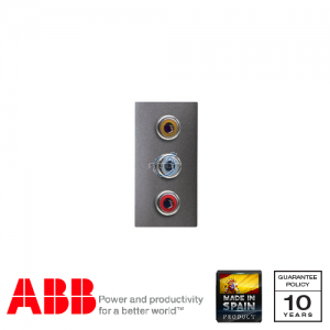 ABB Millenium 1 Gang 3RCA Connection Unit