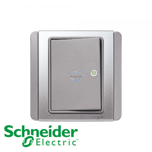 Schneider E3000 Horizontal Switch w/ Fluorescent Indicator Grey Silver