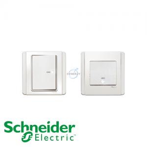 Schneider E3000 Double Pole Switch White
