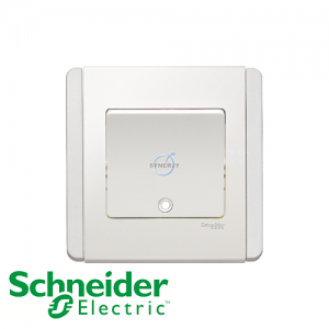 Schneider E3000 Vertical Switch w/ Fluorescent Indicator White