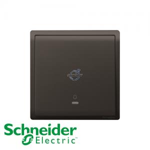 Schneider PIENO Bell Press Switch Matt Black