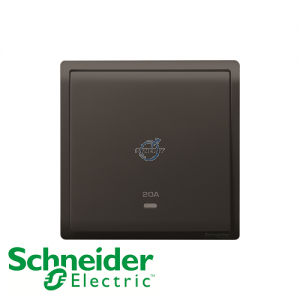Schneider PIENO Double Pole Switches Matt Black