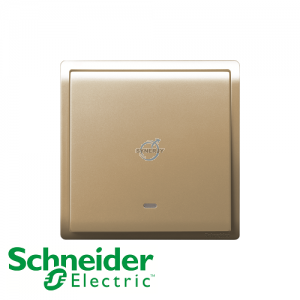 Schneider PIENO Switches with Fluorescent Locator Wine Gold