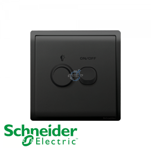 Schneider PIENO Dimmer Switch Matt Black
