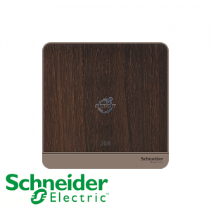 Schneider AvatarOn Double Pole Switches Wood