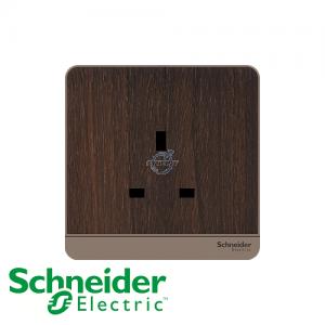Schneider AvatarOn 1 Gang Socket Outlet Wood