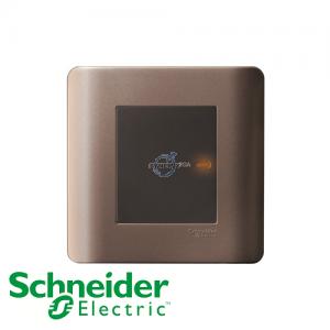 Schneider ZENcelo Double Pole Switches Silver Bronze