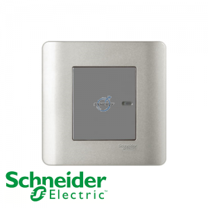 Schneider ZENcelo Momentary Switches Silver Satin (Phase Out)