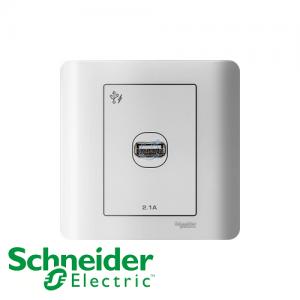 Schneider ZENcelo 1 Gang USB Socket White