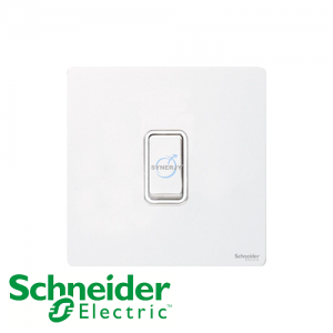 Schneider Ultimate Retractive Switch Pearl Metal White