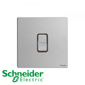 Schneider Ultimate Intermediate Switch Stainless Steel Black