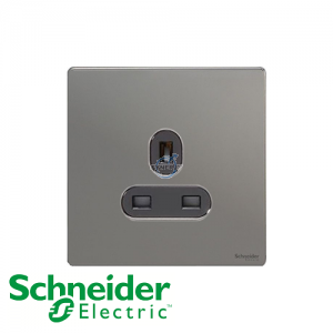 Schneider Ultimate 1 Gang Socket Black Nickel Black