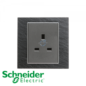 Schneider Unica 1 Gang 13A Socket Outlet Natural Slate