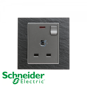 Schneider Unica 1 Gang 13A Switched Socket Outlet w/ Neon Natural Slate
