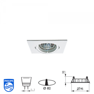 Philips QBS 028 Spotlight Fitting