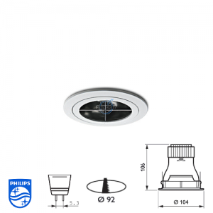 Philips QBS 046 Spotlight Fitting