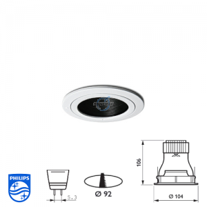 Philips QBS 047 Spotlight Fitting