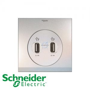Schneider ULTI 2 Gang USB Socket