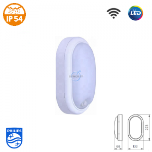 Philips WL008C SmartBright IP54 LED Sensor Light (Oval)
