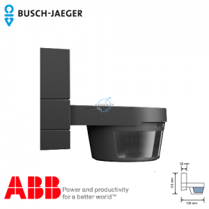Busch-Watchdog 220 MasterLINE Premium IP55 感應開關 (黑色) 連紅外線遙控器
