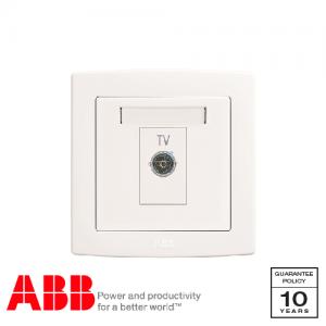 ABB Concept bs 電視 天線 插座 白