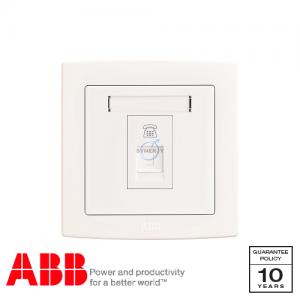 ABB Concept bs 電話 插座 白