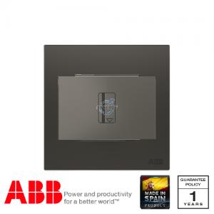 ABB Millenium 插卡開關 連LED指示燈 (5-90秒延時) - 絲綢黑