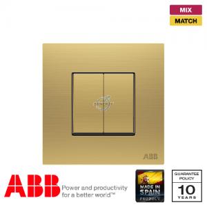 ABB Millenium 兩位 復位 開關掣 - 磨砂金
