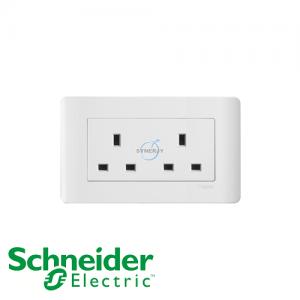 施耐德 ZENcelo 兩位 電源 插座 凝白色