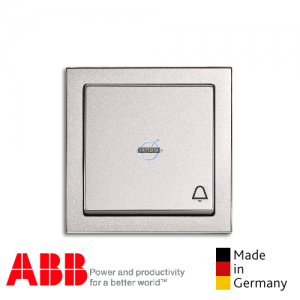 ABB future® linear Bell Press Switch Aluminium Silver